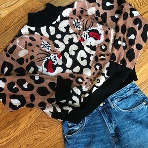 ASOS tiger Mock neck sweater